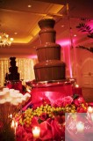 Dark Chocolate and Milk Chocolate Fountain Wedding Presentation with Dipping Packages